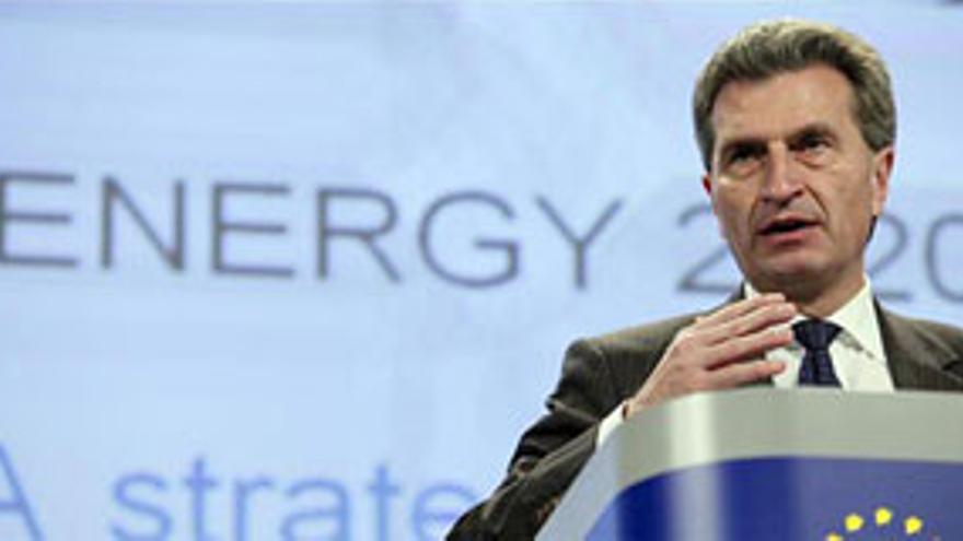 Gunter Oettinger, comisario europeo de Energía.