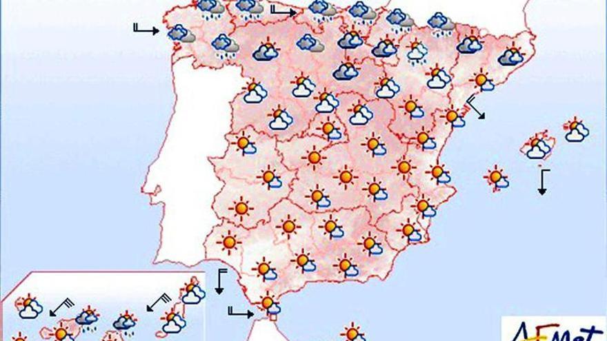 Viento fuerte en el Cantábrico, Girona, delta del Ebro y Canarias