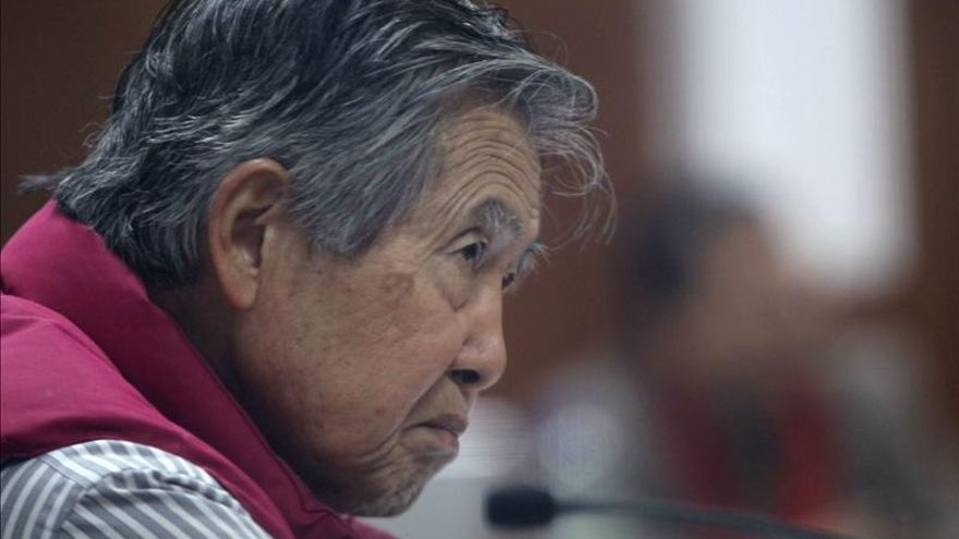 Alberto Fujimori en la vista oral de uno de sus juicios
