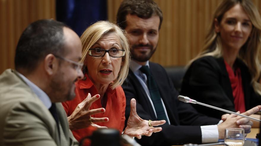 Rosa Díez, en el Congreso.
