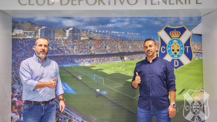 Sesé Rivero y Leandro Cabrera felices con la renovación.
