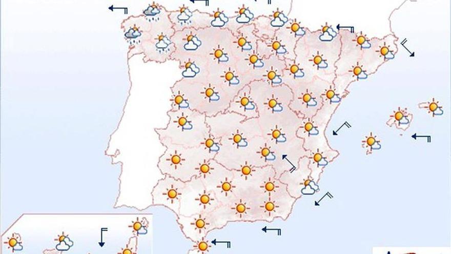 Suben las temperaturas en el Cantábrico, centro e interior del sur peninsular