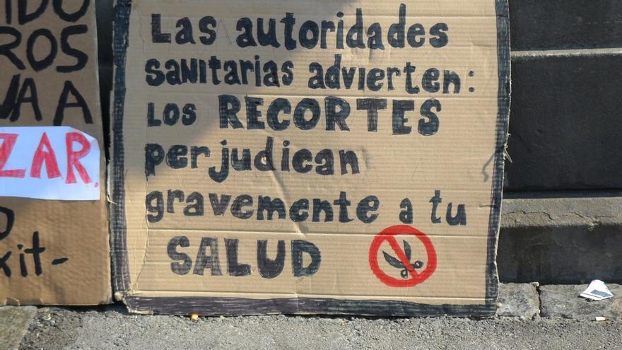 Cartel utilizado en las manifestaciones de Madrid de 2011 © Particular