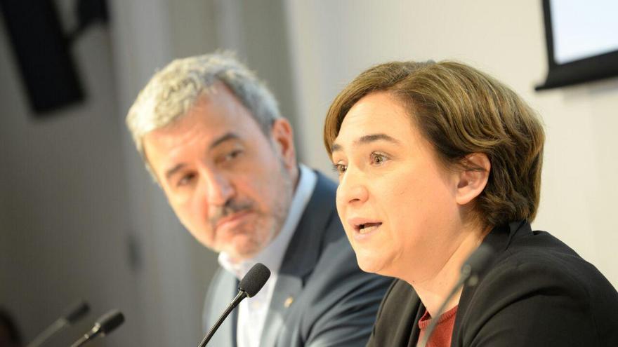 Collboni y Colau presentan su acuerdo de gobierno