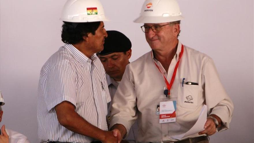 Evo Morales y Brufau anuncian el récord de producción de gas en un campo boliviano
