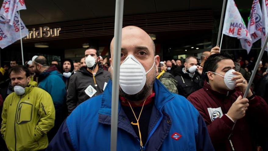 Jornada de paros de maquinistas del Metro de Madrid en protesta por el amianto