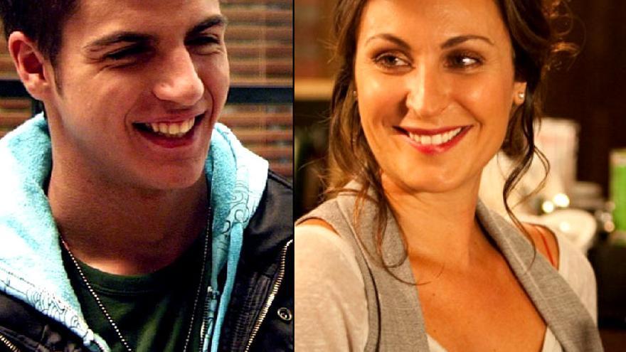 Cabano y Olimpia, los personajes interpretados por Maxi Iglesias y Ana Milán
