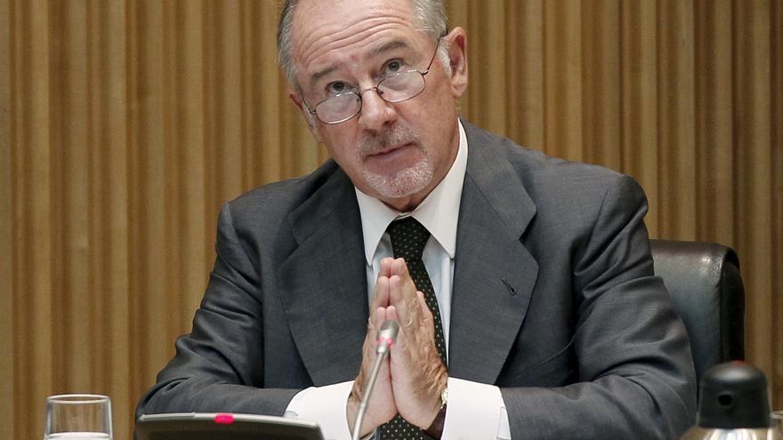El expresidente de Bankia, Rodrigo Rato, declarando en el Congreso / EFE
