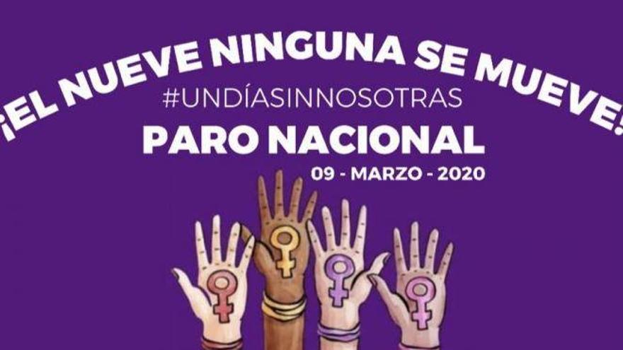 Cartel de convocatoria de día sin mujeres en Veracruz (México).
