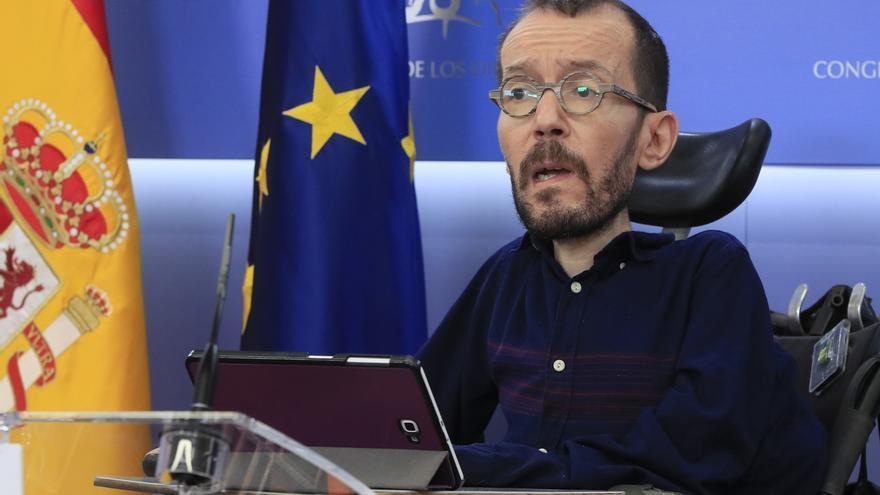 El portavoz en el Congreso de Unidas Podemos, Pablo Echenique.