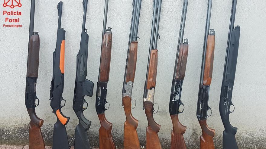 Las armas incautadas.