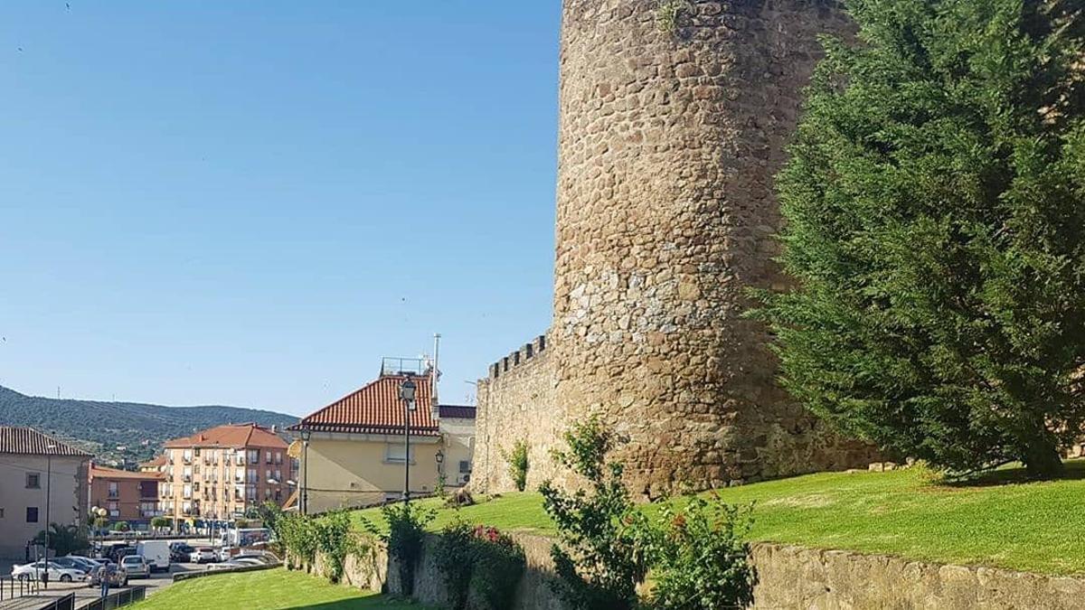 Vista de la muralla de Plasencia.