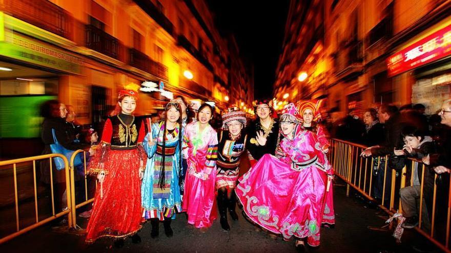Celebración del año nuevo chino en Valencia.