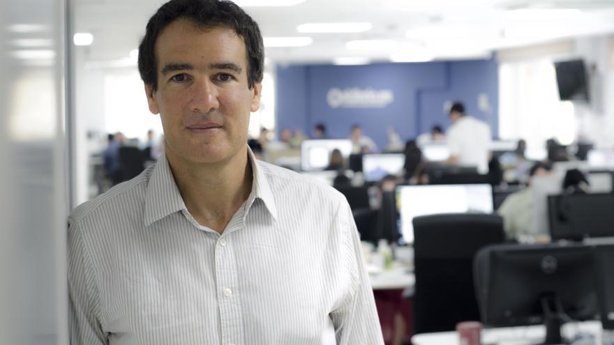Raphael Minder, corresponsal de The New York Times, en la redacción de eldiario.es