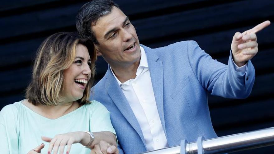 Pedro Sánchez y Susana Díaz recomponen las relaciones y abren una nueva etapa