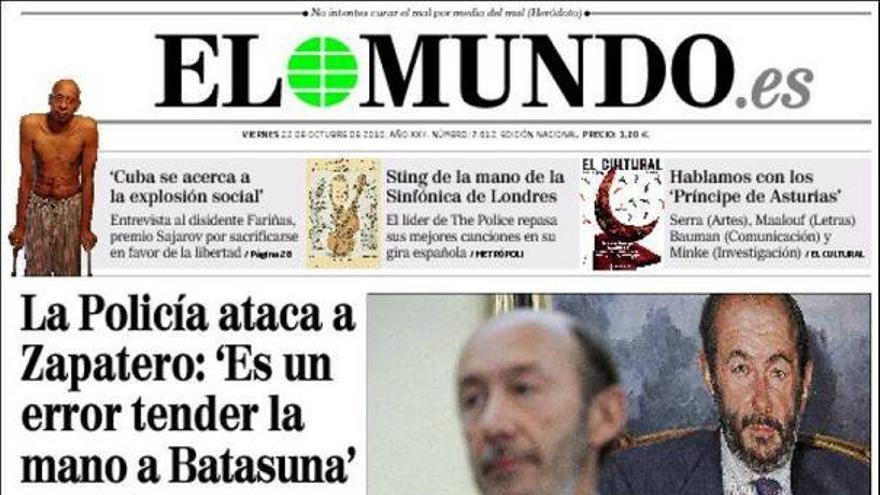 De las portadas del día (22/10/2010) #6