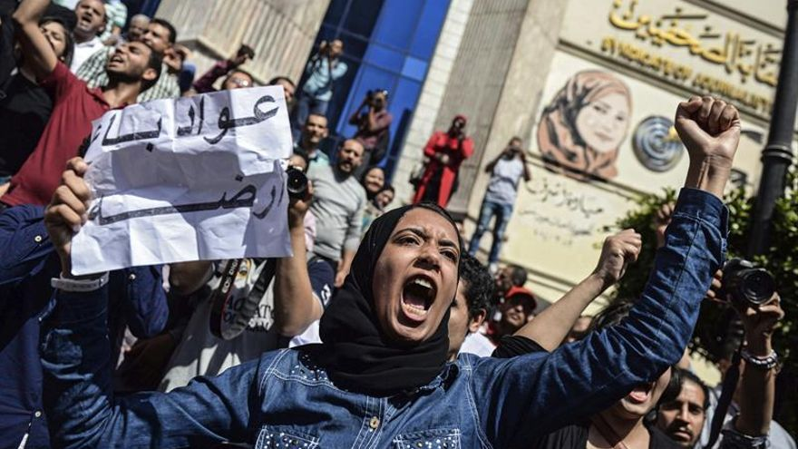 Manifestaciones contra presidente egipcio por cesión de islas a Arabia Saudí