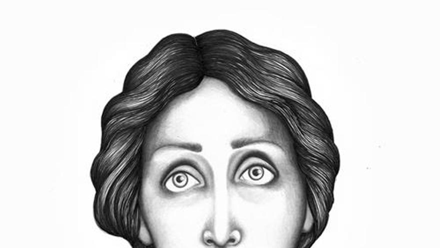 Ilustración de Virginia Woolf realizada por Sara Morante