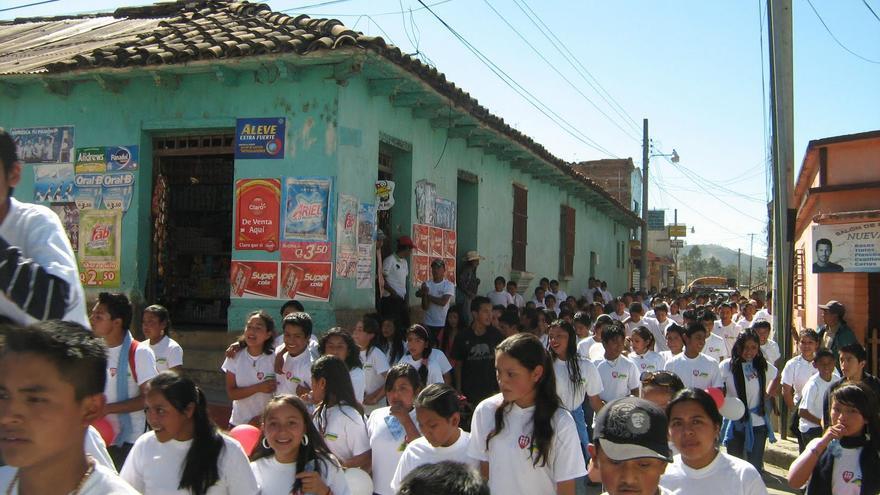 Escuela de Fe y Alegría en Chiantla, Guatemala
