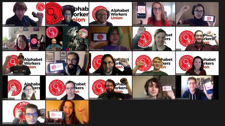 Parte de los trabajadores afiliados al sindicato de Alphabet
