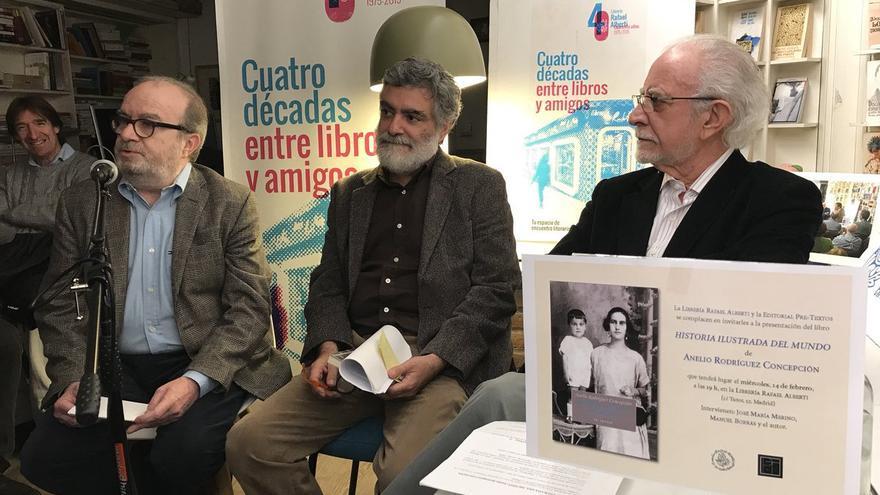 Acto de presentación de 'Historia ilustrada del mundo' en Madrid.
