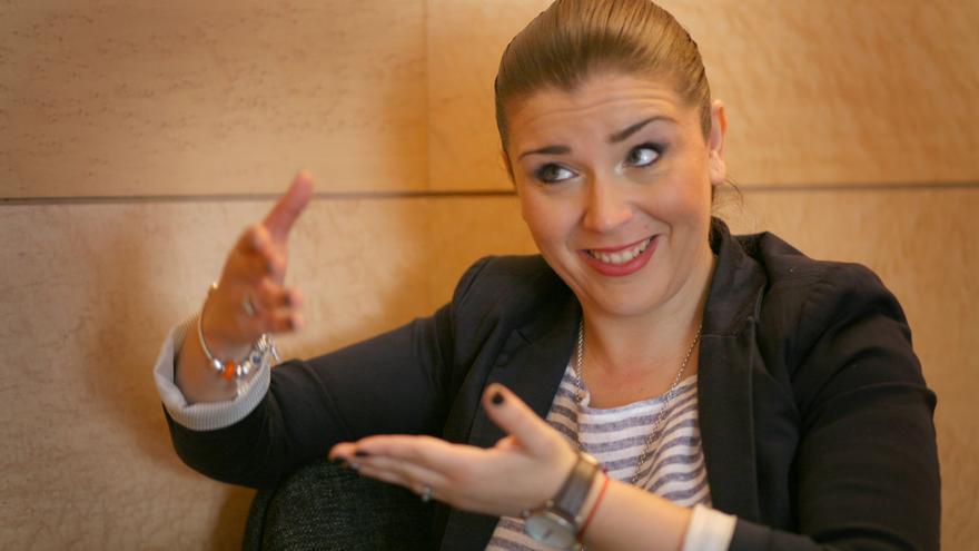 Mari Carmen Sánchez, portavoz parlamentaria de Ciudadanos, en las Corts Valencianes.