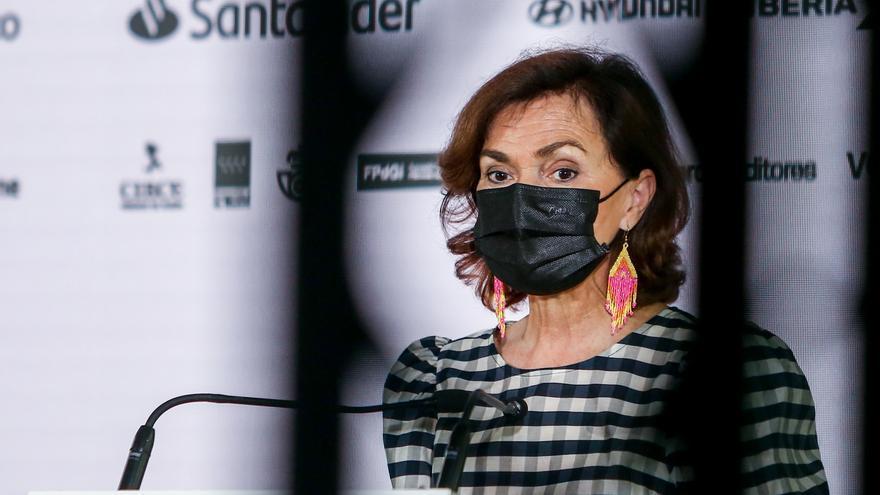 Calvo en la inauguración del WomenNOW Summit el 9 de junio.