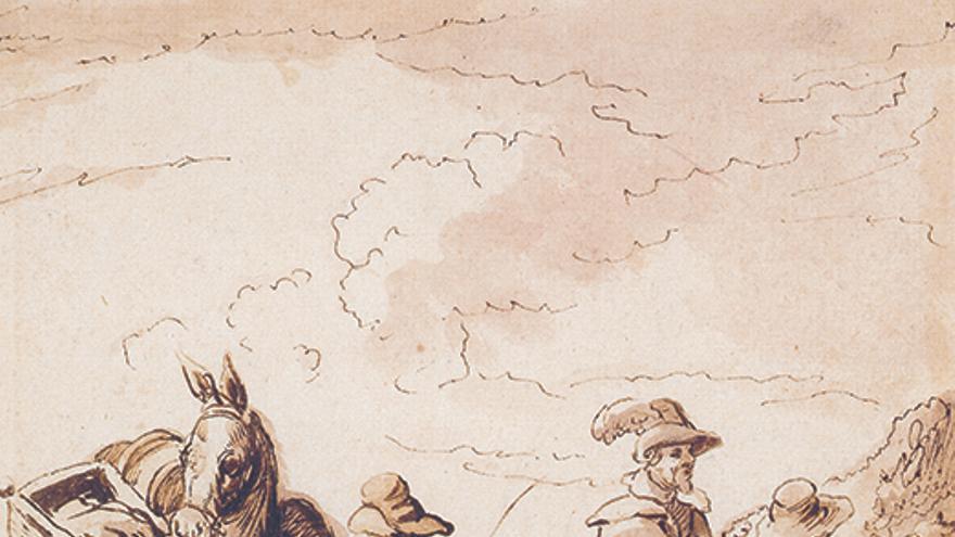 Viajeros en el punto de encuentro, Jan Brueghel el joven (ca. 1630), cortesía Arthemisia España