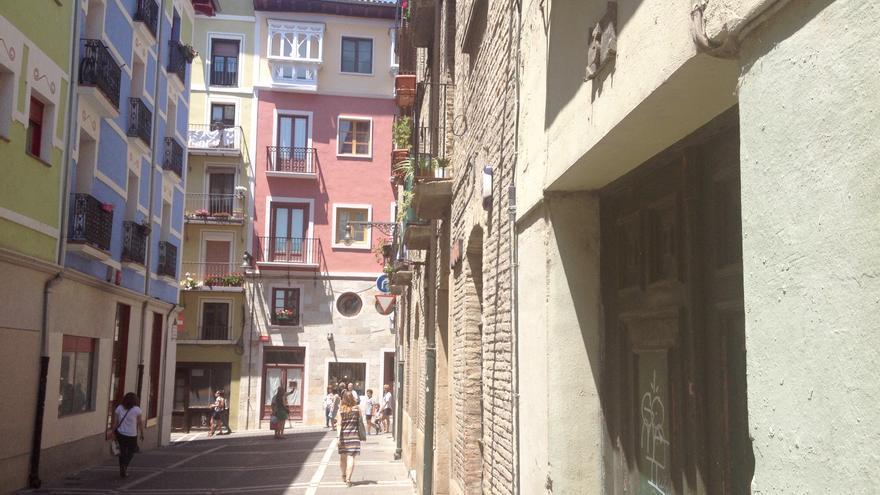 La calle de La Merced, en el Casco Viejo de Pamplona.