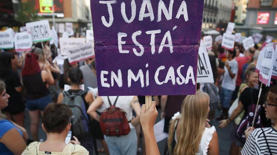 Imagen de archivo de una concentración en apoyo a Juana Rivas