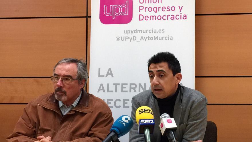 José Antonio Sotomayor y Rubén Juan Serna, concejales de UPyD en el ayuntamiento de Murcia
