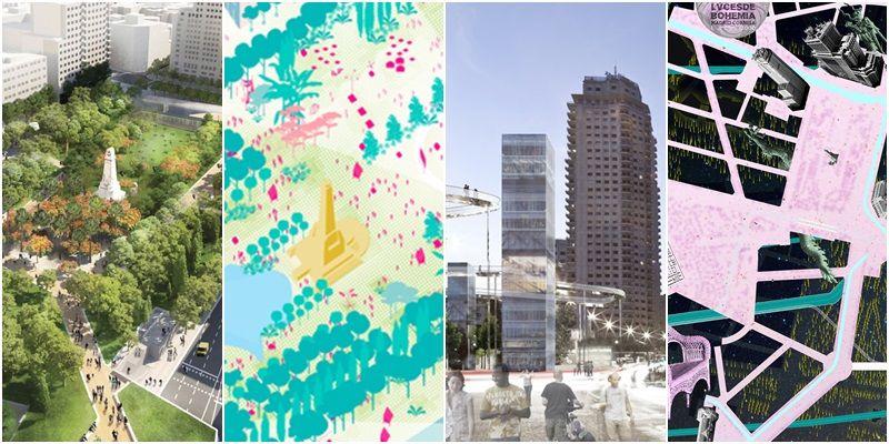 Cuatro de los proyectos presentados al concurso de la nueva Plaza de España | AYUNTAMIENTO DE MADRID