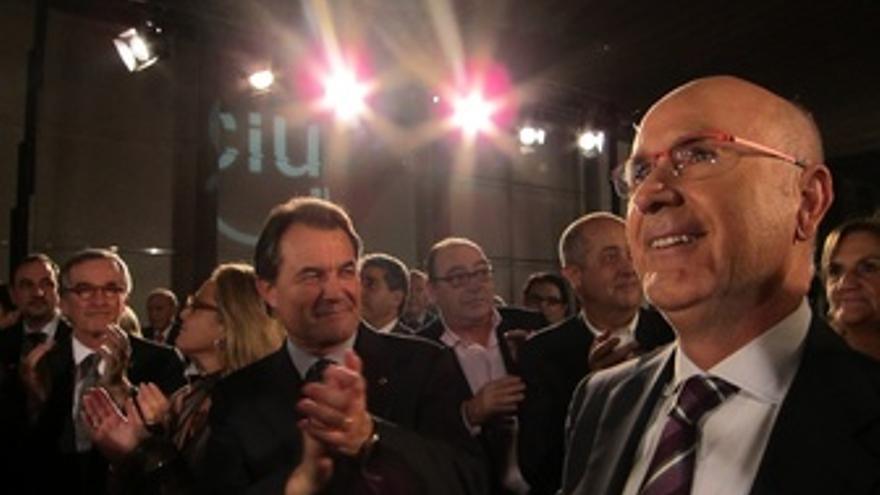 X.Trias, A.Mas Y J.A.Duran En El Inicio De Campaña De Las Generales