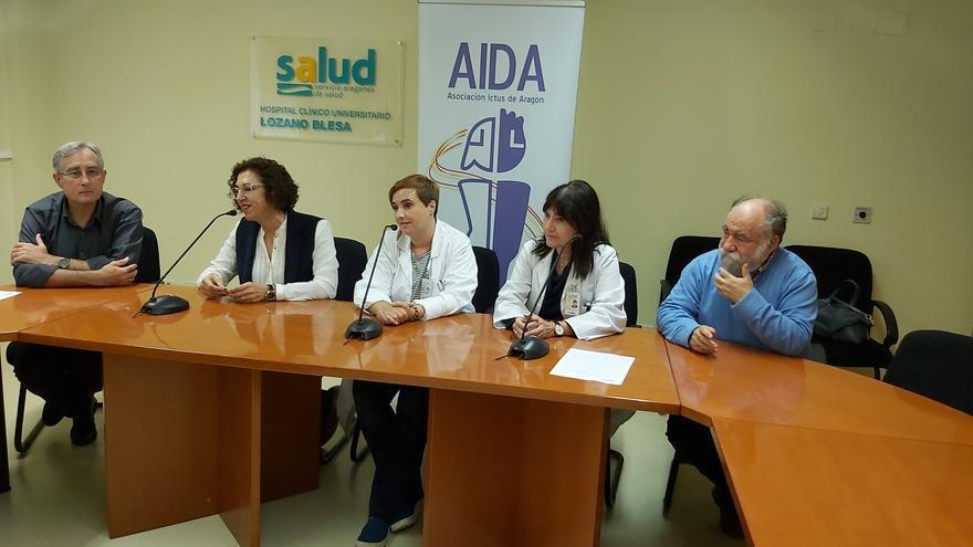 Representantes de la Asociación Ictus de Aragón.