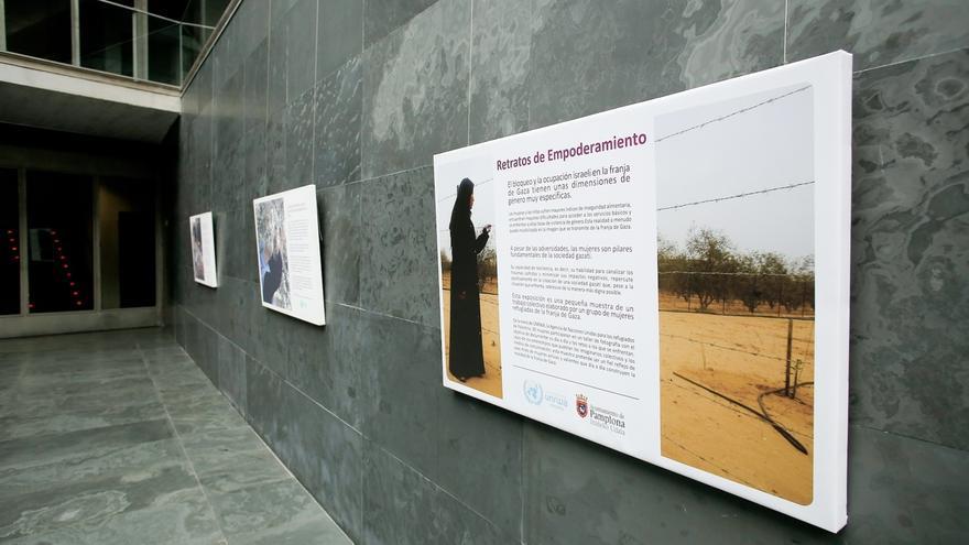El Parlamento expone una muestra fotográfica sobre la población palestina refugiada en Gaza