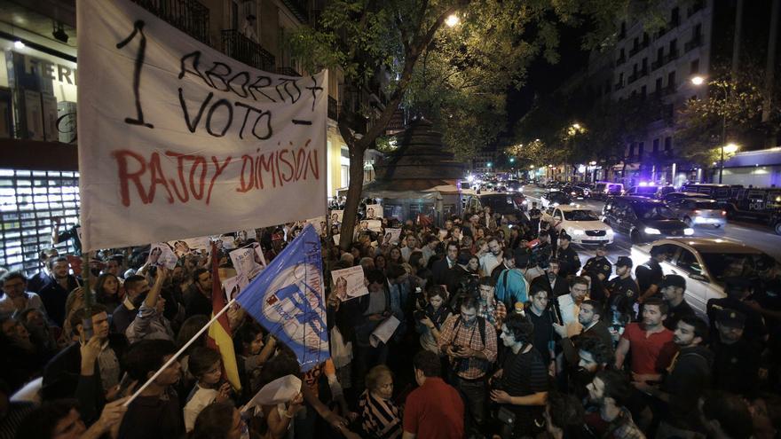 Aspecto de la manifestación en Génova convocada por Derecho a Vivir / Olmo Calvo