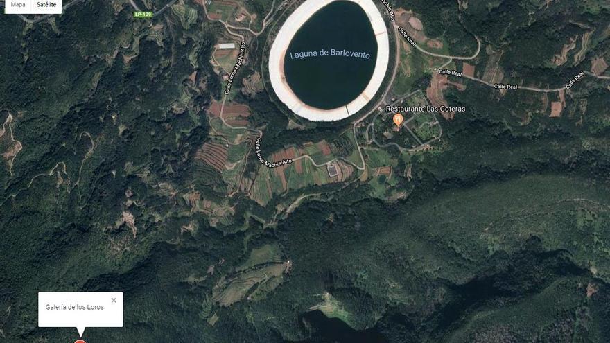 Vista  aérea de la zona donde se llevarán a cabo las obras parala creación del depósito regulador de Los Loros. Imagen facilitada por el Cabildo.