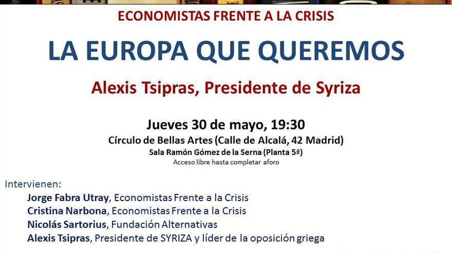 Imagen de convocatoria de Economistas Frente a la Crisis