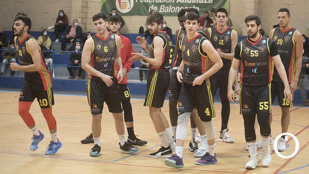 Jugadores del Peñarroya antes de un partido