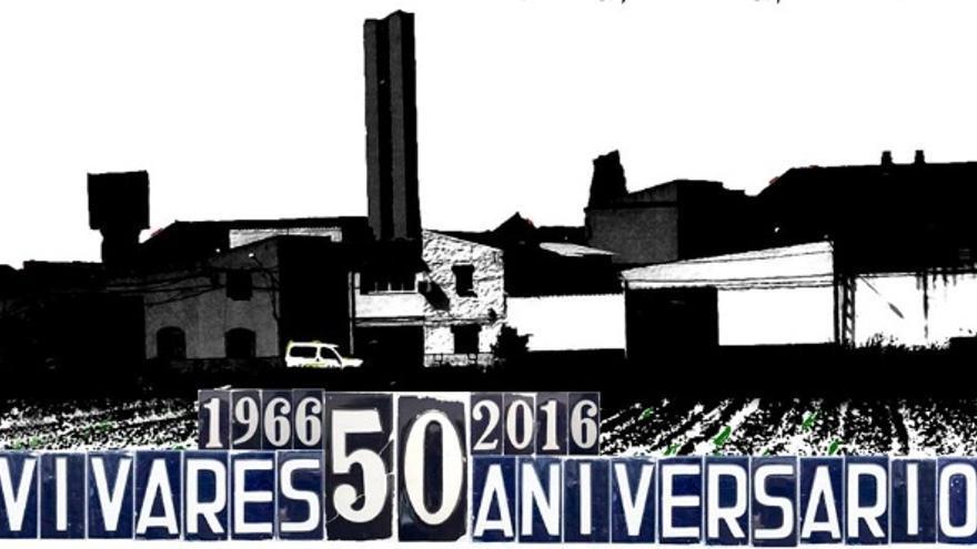 Logo conmemorativo del 50 aniversario de Vivares / Pedro Natalio