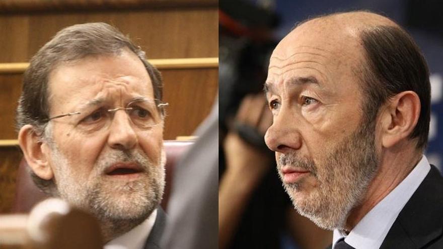 """Rajoy y Rubalcaba se recomiendan mutuamente """"contundencia y ejemplaridad"""" en los casos de corrupción de PP y PSOE"""