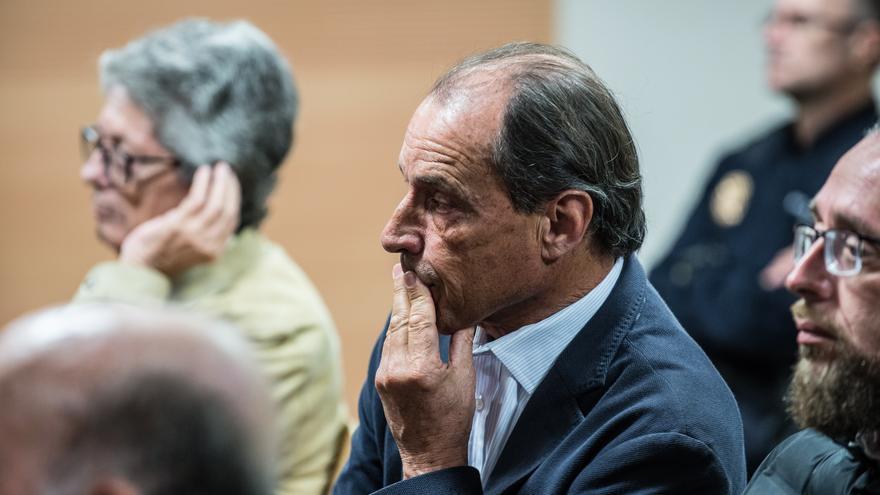 El empresario Juan Francisco Rosa, principal acusado del caso Stratvs, en la primera sesión del juicio celebrado en Arrecife.