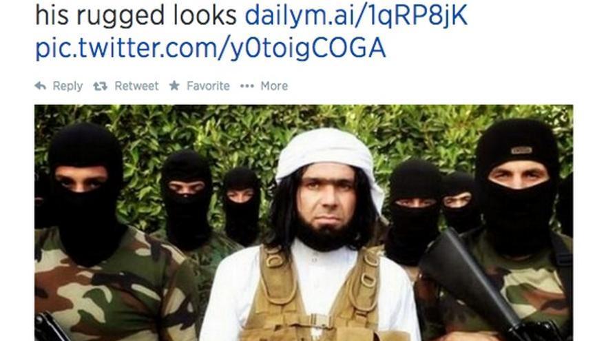 Captura del mensaje en twitter del diario DailyMail, 16 junio 2014.