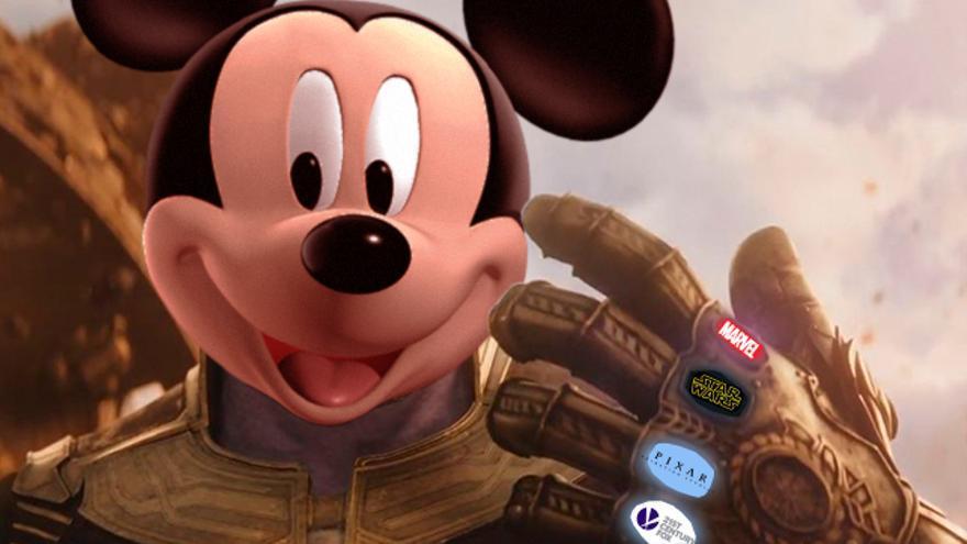 Mickey gemas del infinito