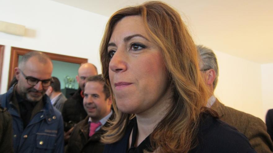 """Susana Díaz afirma que en el PP-A siguen """"los mismos"""", pues Arenas """"sigue siendo el que tutela"""" al partido"""