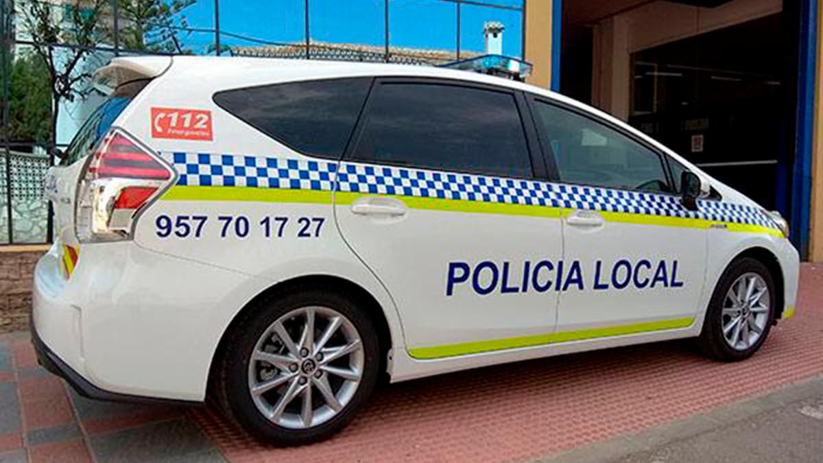 Un vehículo de la Policía Local de Priego de Córdoba.