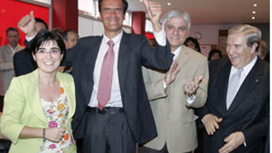 Carolina Darias, Juan Fernando López Aguilar, José Miguel Pérez y Jerónimo Saavedra. (CANARIAS AHORA)