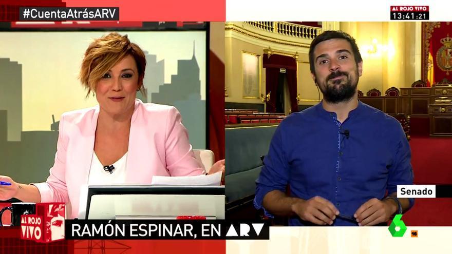 El zasca de Cristina Pardo a Ramón Espinar tras quejarse por sus preguntas