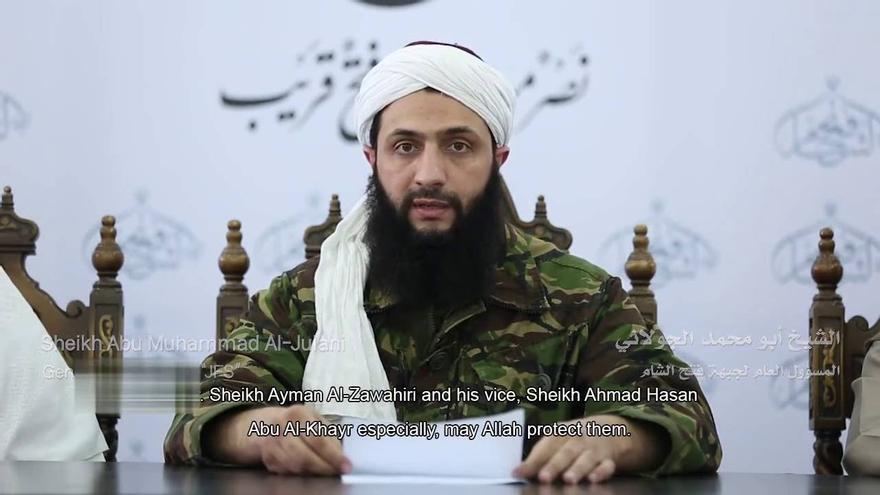 Abu Muhamad al Julani, líder de Al Nusra y actualmente de Jabhat Fata al Sham.