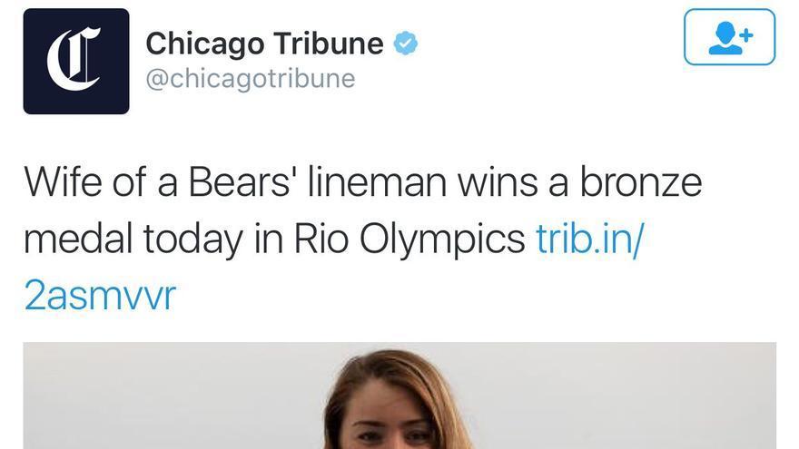 La victoria de Cory Cogdell según el Chicago Tribune.